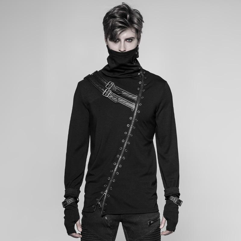 Men's Punk Grommet Sweatshirt - PunkDesign