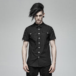 Men's Punk Shirts Black - PunkDesign