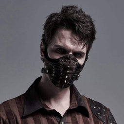 Punk Rave Men's Punk Starppy Masks With Rivets