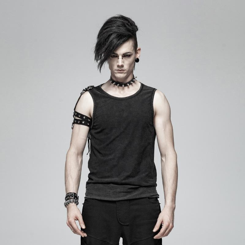 a25d8b42ed847 Men s Punk Tank Tops With Straps - PunkDesign. Images   1   2 ...