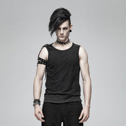 Men's Punk Tank Tops With Straps - PunkDesign
