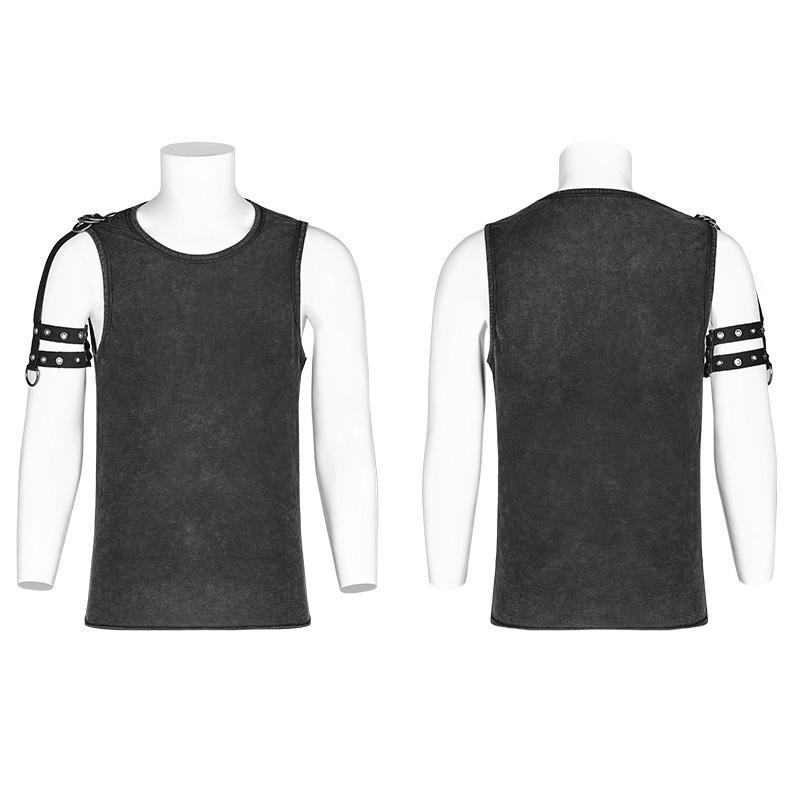 44a99488081d3 Men s Punk Tank Tops With Straps - PunkDesign. Images   1   2   3   4   5    6 ...