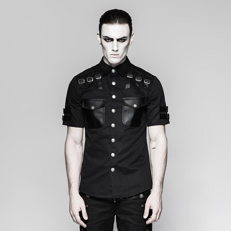 Men's Military short sleeved shirt - PunkDesign