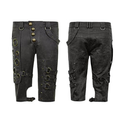 Men's Steampunk Shorts-Punk Design