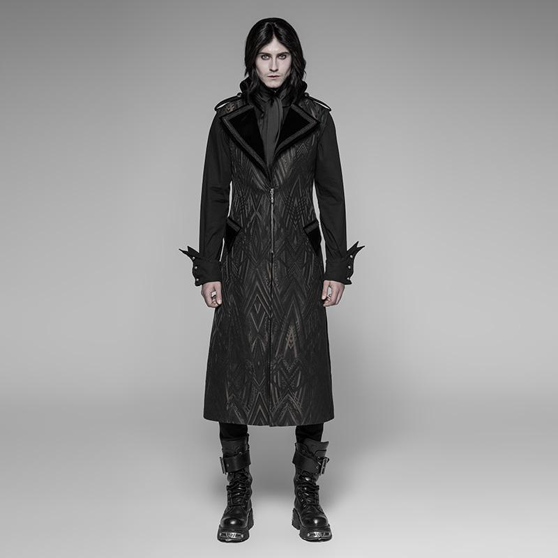 Men's Sleeveless Goth Long Coat - PunkDesign