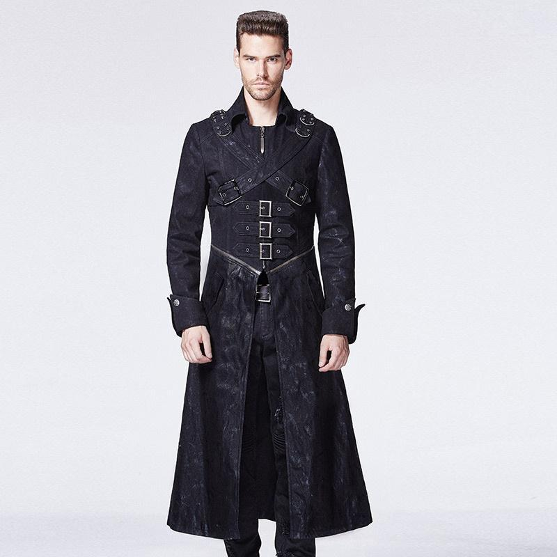 Men's Stand Collar Buckle Nostromo Coat - PunkDesign