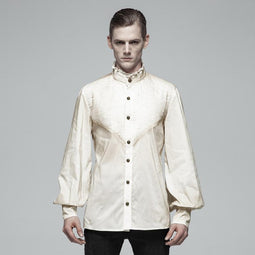 Men's Steampunk Vintage Shirt With Flare Sleeves-Punk Design