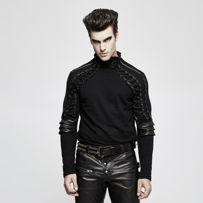 Men's Steampunk Armor Long-sleeve T-shirt - PunkDesign