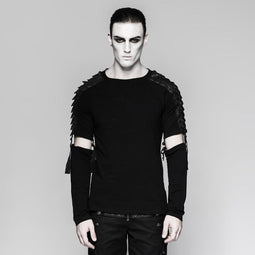 Men's Warrior shirt with Detachable sleeves-Punk Design
