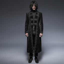 Men's Vintage Targaryen Long Coat-Punk Design