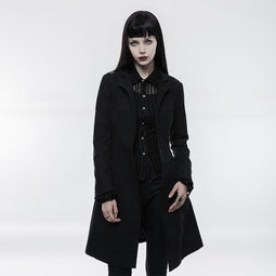 Punk Rave Women's Lapel Arrayed Covered Botton Casual Coat Y840-Punk Design