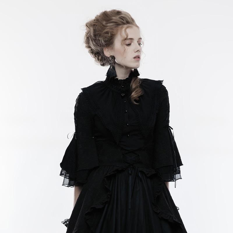 Women's Lolita Lace Trim Chiffon Shawl-Punk Design