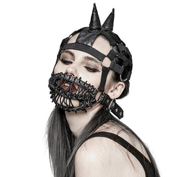 Women's Punk Masks Turtleneck Elastic Cap For Performance-Punk Design
