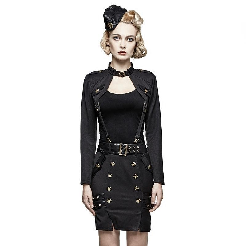 Women's Punk Uniform Military Women's Short Suit-Punk Design
