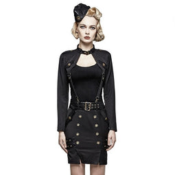 Damen Punk Uniform Militär Damen Short Suit-Punk Design