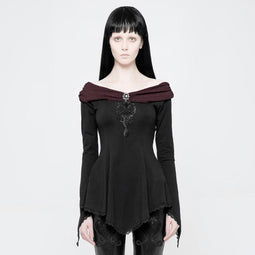 Women's Bertha Neck Punk Top-Punk Design
