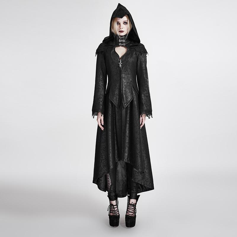 Women's Gothic Mystery Angel Hooded Overcoat-Punk Design