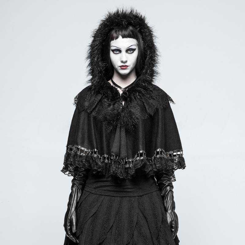 Women's Lolita Lace-trim Little Cloak-Punk Design