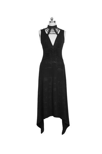 Frauen Punk Backless Asymmetrical Evening Dress-Punk Design