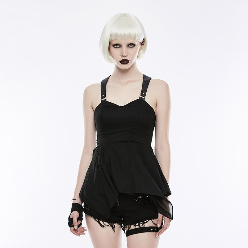 Women's Punk High Waist Cropped-hem Slim Fitted Dresses-Punk Design