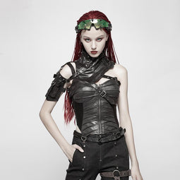 Women's Faux Leather Steampunk Harness-Punk Design