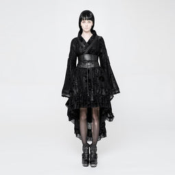 Women's Goth Kimono Dress-Punk Design