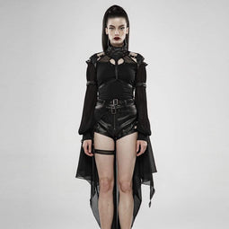 Punk Rave Women's Goth Stand Collar Cutout Bat Cloaks