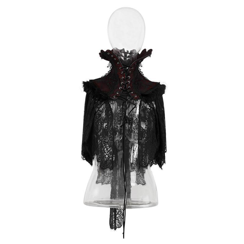 Women's Gothic High Collor Embroideried Lace Collar/Neckwear