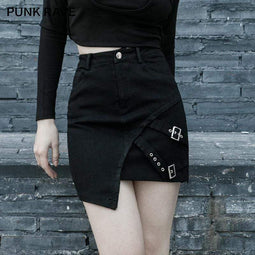 Punk Rave Women's Gothic Irregular Skirts With Chains