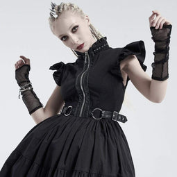Punk Rave Women's Gothic Net Arm Sleeves