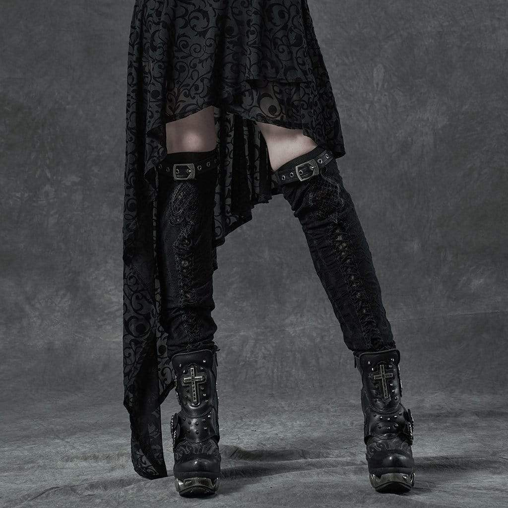 Punk Rave Damen Gothic Ripped Fitted Beinlinge
