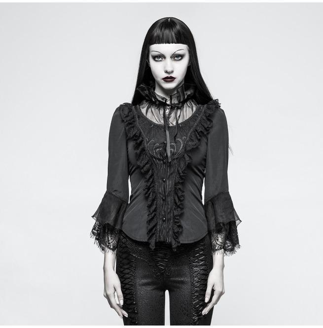 Women's Gothic Ruffles Lace Tops-Punk Design