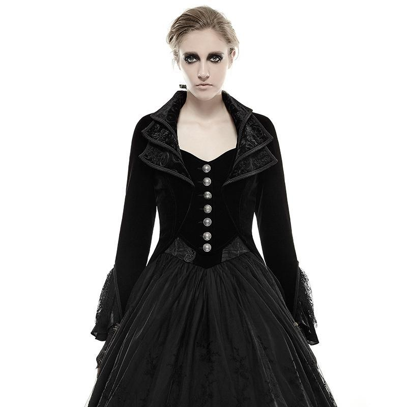 Women's Gothic Victorian High/Low Swallow Tail Overcoat - PunkDesign