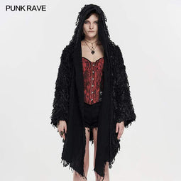 Punk Rave Women's Grunge Dark Coil Loosed Sweaters