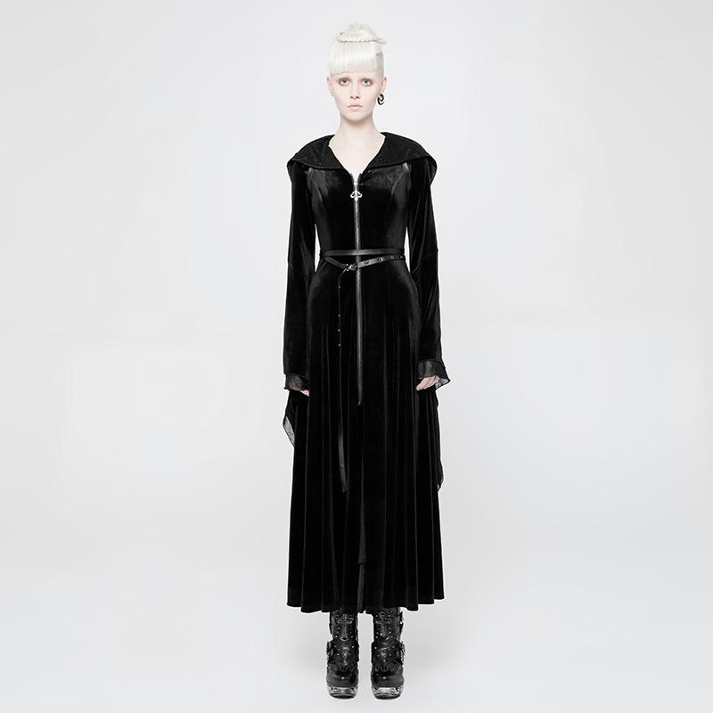 Women's Hooded frock Coat-Punk Design