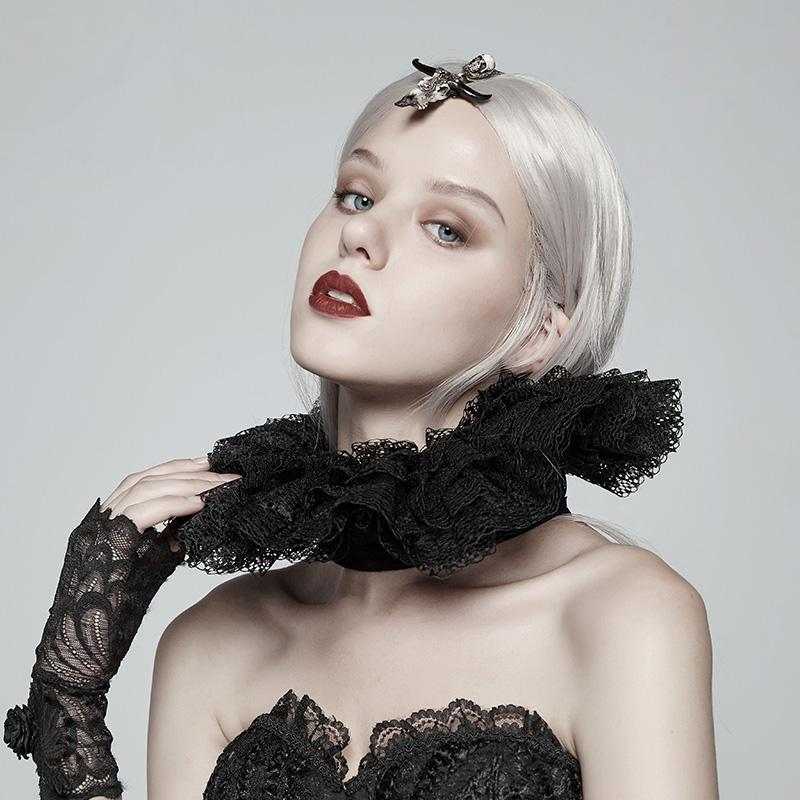 Women's Lolita Adjustable Multilayered Lace Collar-Punk Design