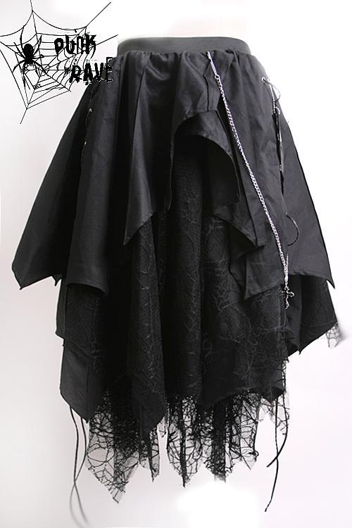 Women's Lolita Irregular Multilayer Skirt-Punk Design