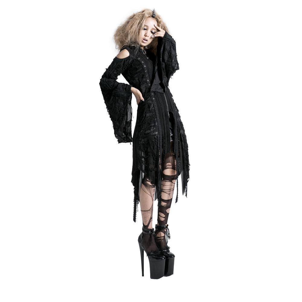 Women's Lolita Witch Hooded knitted Dress-Punk Design