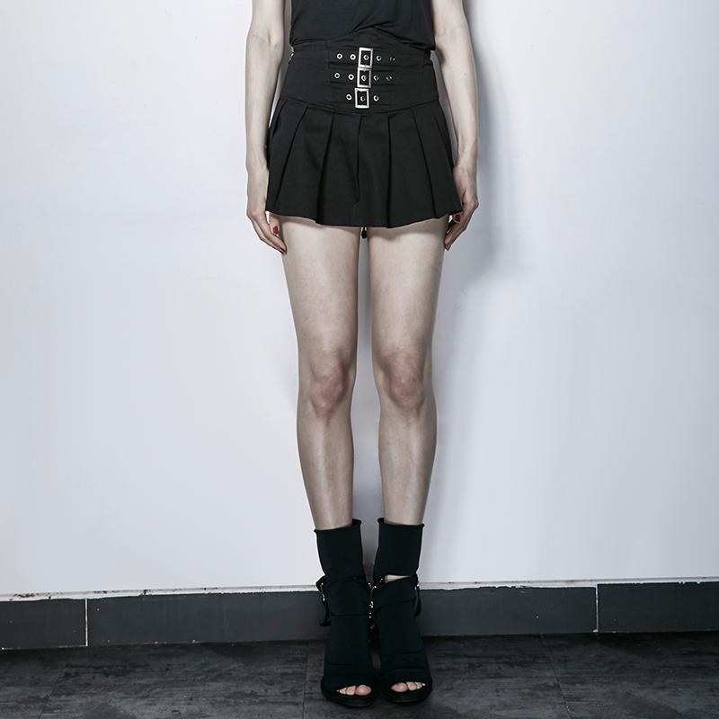 Women's Mini Pleated Skirts-Punk Design