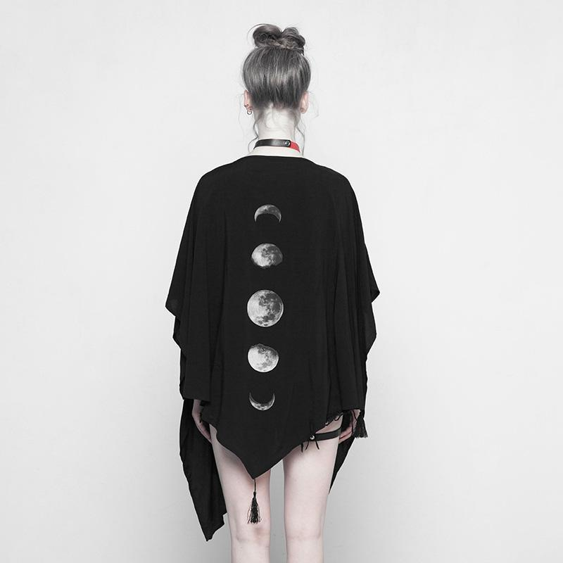 Women's Phases Of Moon Punk Cloak-Punk Design