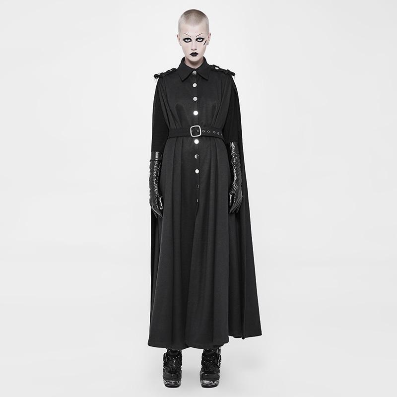 Women's Punk Military Style Cloak Coat-Punk Design