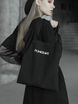 PUNK RAVE Women's Punk One Shoulder Canvas Bag