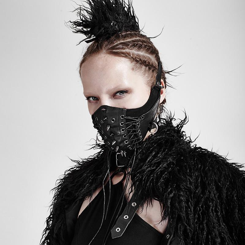 Damen Punk Nieten Kunstledermasken - Punk Design