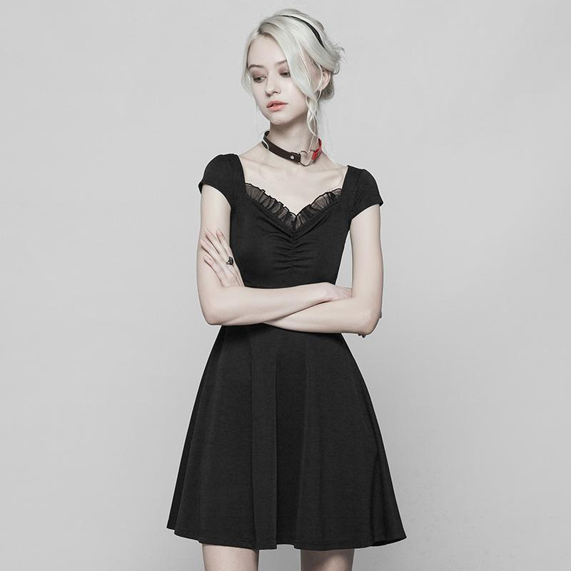 Women's Punk Ruched Dress-Punk Design