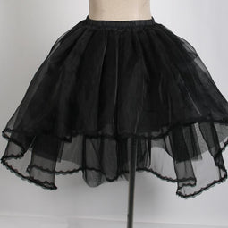 Women's Sheer Multilayer Yarn Skirt/Underskirt-Punk Design