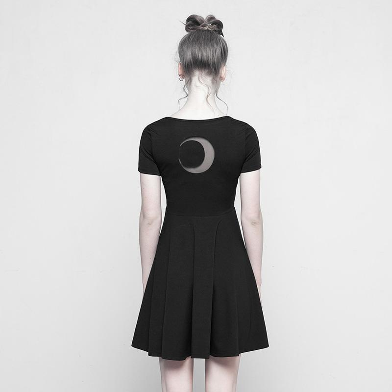 Women's Short Round Neck Punk Dress-Punk Design