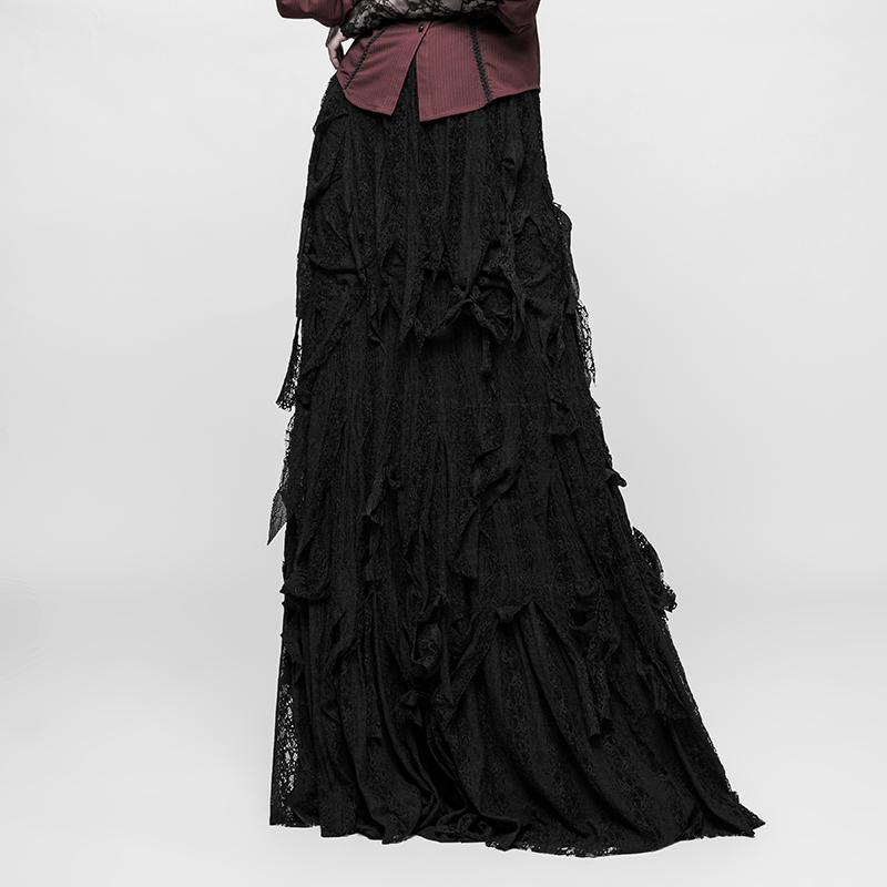 Women's Gothic Priestess Multilayer Maxi Skirts-Punk Design