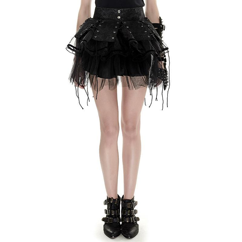 Women's Lolita Two Piece Spiky Tutu Pettiskirt-Punk Design