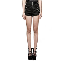 Women's New Design Military High Waist Versatile Shorts-Punk Design