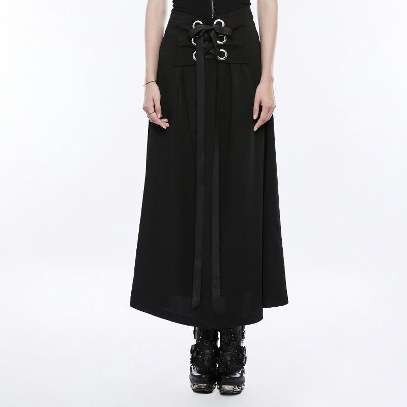 Women's Punk Tie Wraps Chiffon Half Skirt-Punk Design